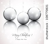 silver christmas background | Shutterstock .eps vector #108770831