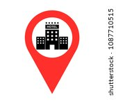 hotel sign pointer vector | Shutterstock .eps vector #1087710515