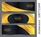 set of modern vector banners... | Shutterstock .eps vector #1087711049