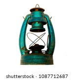 ancient lamp isolated with... | Shutterstock . vector #1087712687