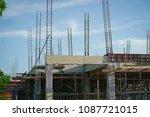 building under construction. | Shutterstock . vector #1087721015