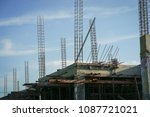 building under construction. | Shutterstock . vector #1087721021