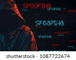 spoofing concept with faceless...   Shutterstock . vector #1087722674