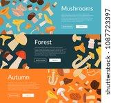 vector horizontal web banners...   Shutterstock .eps vector #1087723397
