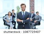 successful businessman at the... | Shutterstock . vector #1087725407