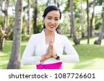 young pretty asian woman doing... | Shutterstock . vector #1087726601