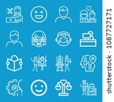 people related set of 16 icons... | Shutterstock .eps vector #1087727171