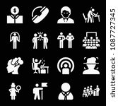 people related set of 16 icons... | Shutterstock .eps vector #1087727345