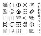 interface related set of 25... | Shutterstock .eps vector #1087729511