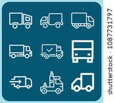 truck related set of 9 icons... | Shutterstock .eps vector #1087731797
