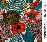 summer retro background  nature ... | Shutterstock .eps vector #1087731857