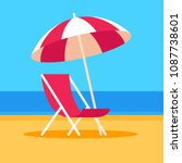 summer vacation vector... | Shutterstock .eps vector #1087738601