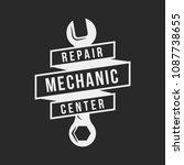 auto mechanic service. mechanic ... | Shutterstock .eps vector #1087738655