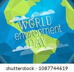 happy world environment day... | Shutterstock .eps vector #1087744619