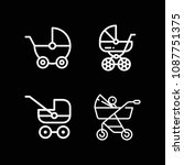 outline carriage icon set such...   Shutterstock .eps vector #1087751375