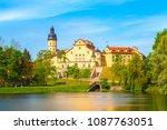 medieval castle in nesvizh ...   Shutterstock . vector #1087763051
