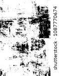 grunge black and white pattern. ... | Shutterstock . vector #1087770674