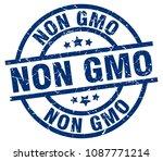 non gmo blue round grunge stamp   Shutterstock .eps vector #1087771214