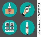 flat design of set infographics ... | Shutterstock .eps vector #1087772894