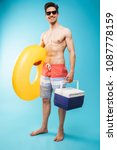 full length portrait if a... | Shutterstock . vector #1087778159