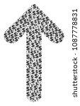 arrow direction mosaic of... | Shutterstock .eps vector #1087778831