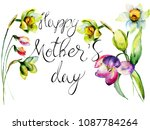 title happy mothers day with... | Shutterstock . vector #1087784264
