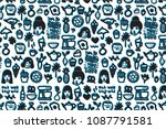ink pattern background  print  ... | Shutterstock .eps vector #1087791581