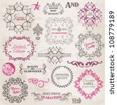 vector set  calligraphic design ... | Shutterstock .eps vector #108779189