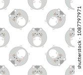dwarf hamster. seamless vector...   Shutterstock .eps vector #1087797971