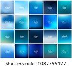 mega pack of 20 blurred...   Shutterstock .eps vector #1087799177
