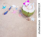 summer beach background.top... | Shutterstock . vector #1087800119