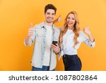 photo of joyous couple man and... | Shutterstock . vector #1087802864