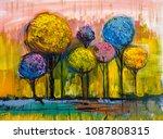 oil painting landscape ... | Shutterstock . vector #1087808315