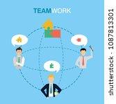 business teamwork concept   Shutterstock .eps vector #1087813301