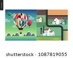 simple things   color   flat... | Shutterstock .eps vector #1087819055