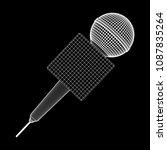 microphone vector. wireframe... | Shutterstock .eps vector #1087835264
