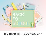 various stationery for back to... | Shutterstock .eps vector #1087837247