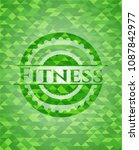 fitness green emblem with... | Shutterstock .eps vector #1087842977