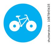 bicycle icon. bike icon. vector ... | Shutterstock .eps vector #1087845635