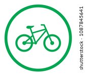 bicycle icon. bike icon. vector ... | Shutterstock .eps vector #1087845641