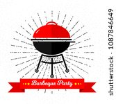 barbeque party invitation card... | Shutterstock .eps vector #1087846649
