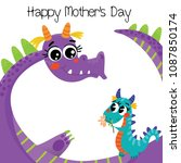 happy mother's day greeting... | Shutterstock .eps vector #1087850174