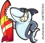 Cartoon Shark With Sunglasses...
