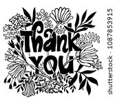 thank you card with lettering... | Shutterstock .eps vector #1087853915