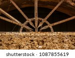 it's an old door. stone and... | Shutterstock . vector #1087855619