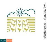 spring field icon. seedling....