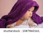 innocent kid  do face doubt ... | Shutterstock . vector #1087860161