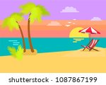 seashore coastal view tropical... | Shutterstock .eps vector #1087867199