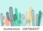 seamless horizontal  pattern... | Shutterstock .eps vector #1087868357
