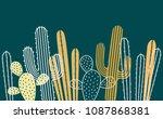 seamless horizontal  pattern... | Shutterstock .eps vector #1087868381